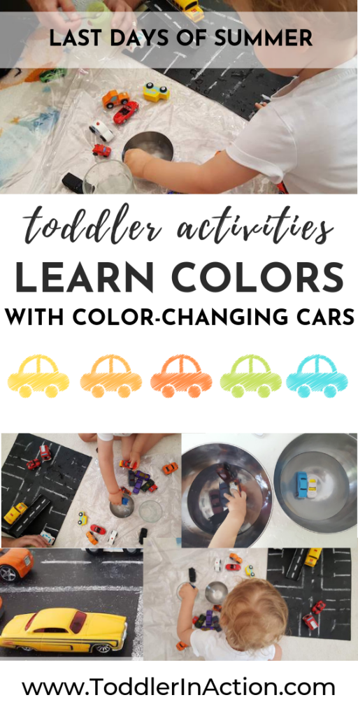Learn colors with color-changing cars for toddlers