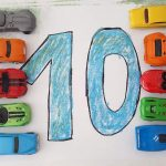Learn to Count with Coloring Pages and Toy Cars