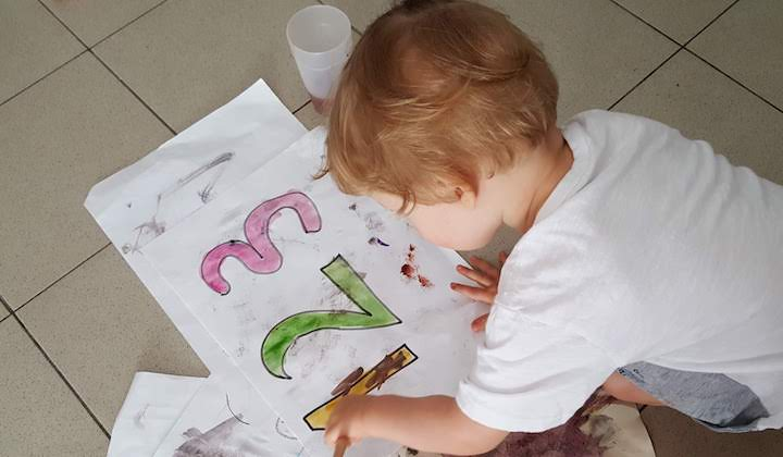 Coloring Pages with Numbers with Watercolors