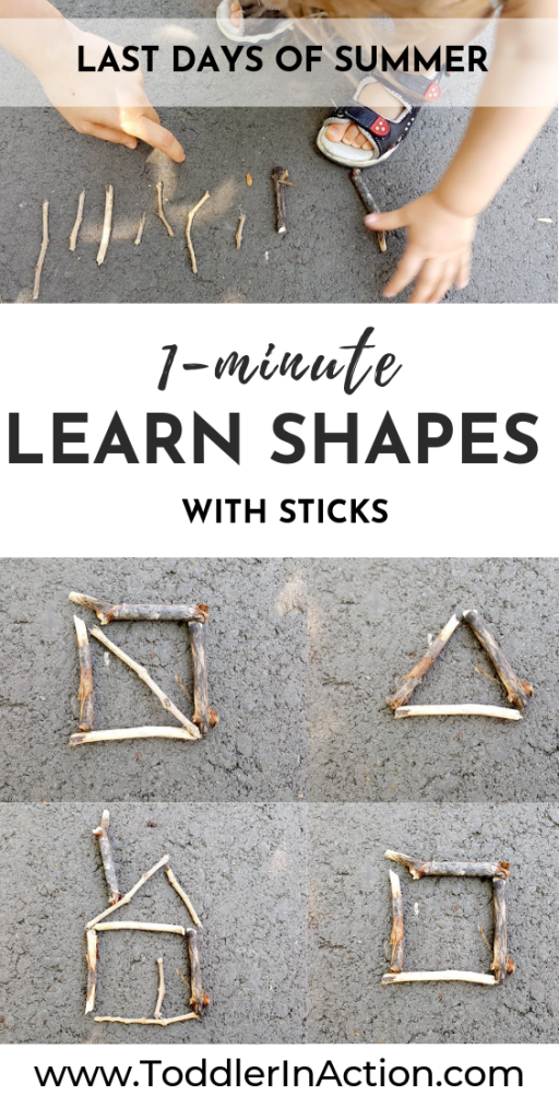 Fun Activity for Toddler with Sticks