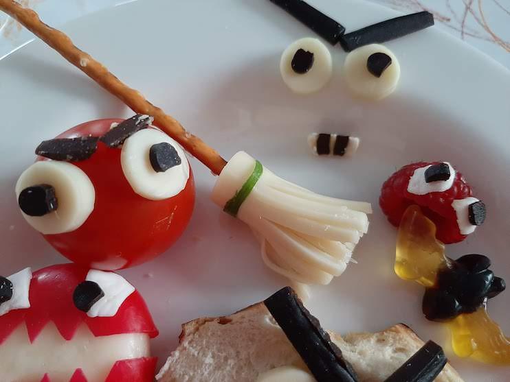 Tomato Monster  - easy Halloween Snacks