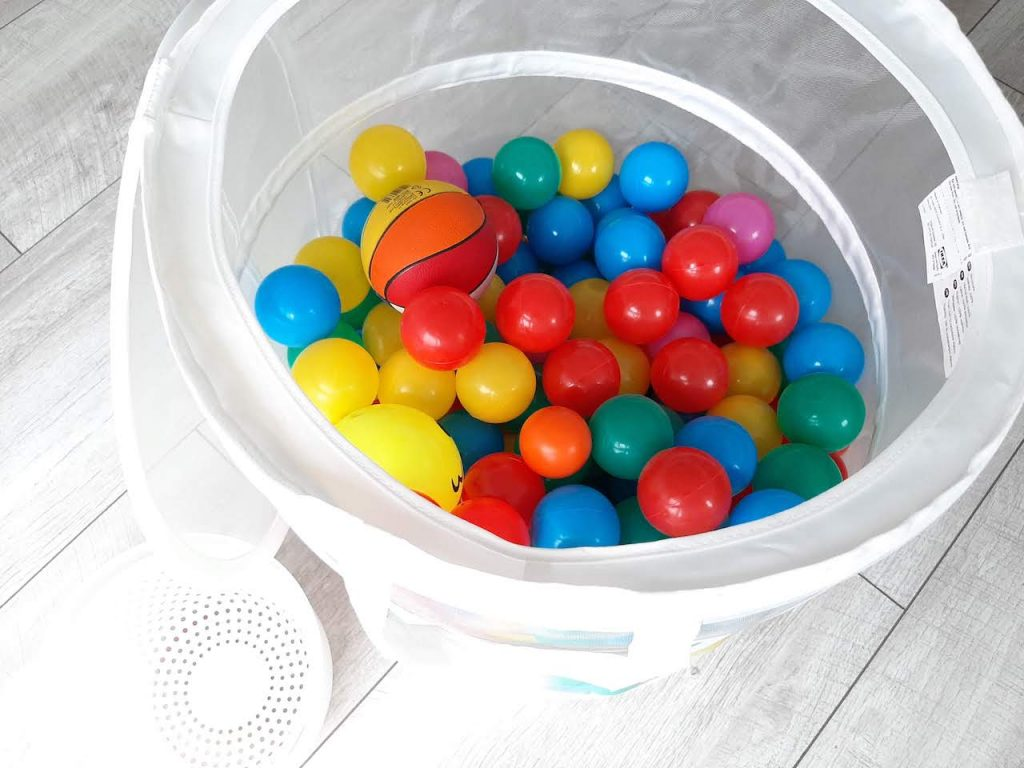 Laundry Basket with Balls for Toddler Activities at home