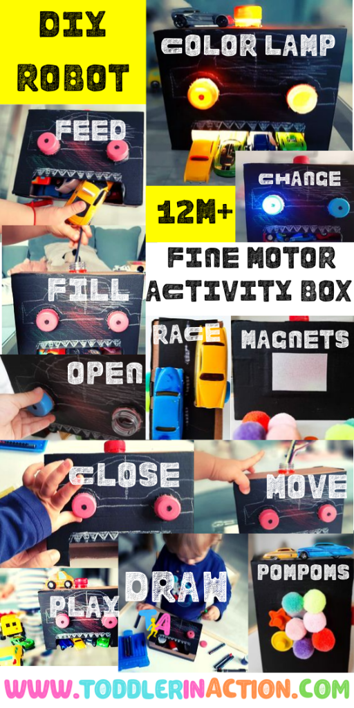 DIY Robot - 12m+ Fine Motor Activities Box for Toddlers