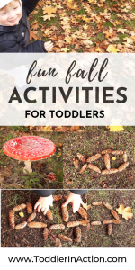 Fall Activity for Toddlers with Pine Cones