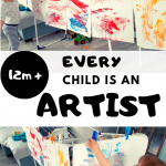 Easy Art Activities for Toddlers with an Exhibition at Home