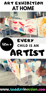 Read more about the article Easy Art Activities for Toddlers with an Exhibition at Home