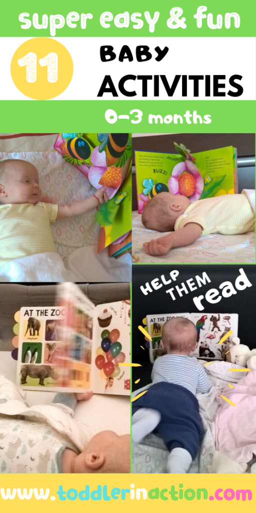 Baby 2 months reads - Easy Baby Activities 0-3m