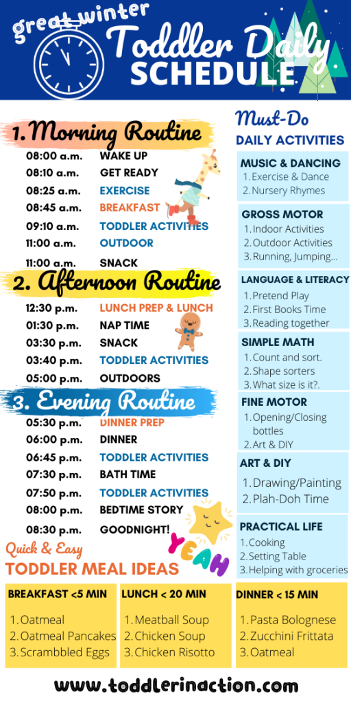 Daily Toddler Schedule Wintertime