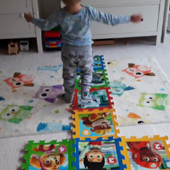Hopscotch with Puzzles at Home