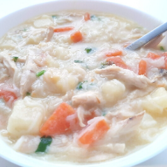THIS CREAMY CHICKEN SOUP IS A HEALTHY, EASY TODDLER MEAL