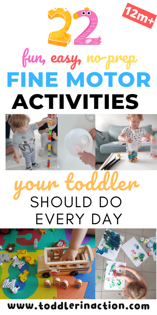 22 fine motor activities your toddler should do every day