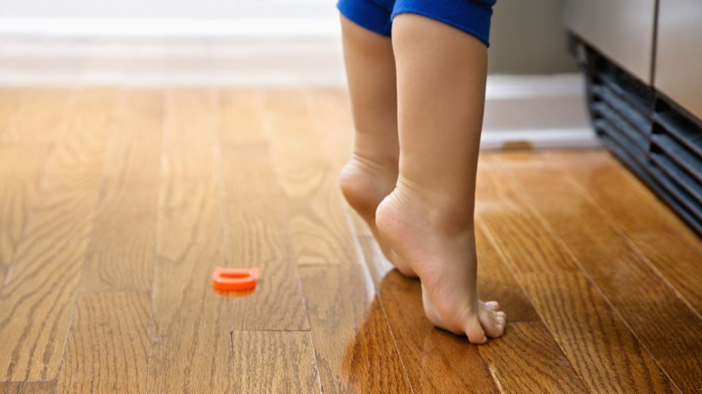 Things 2-year-old should do on their own standing on tiptoes