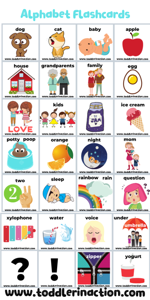 Educational Toddler Activities Alphabet Flashcards Free Printable