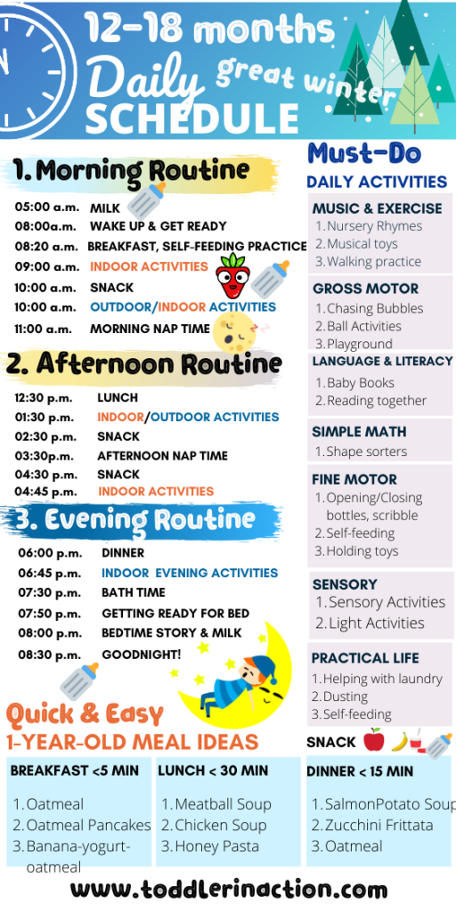 stay at home daily toddler schedule