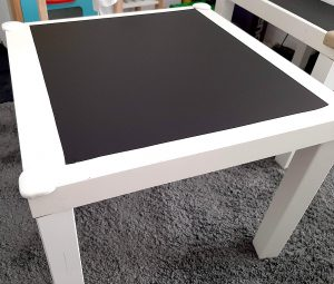 DIY CHALKBOARD TABLE – PLAYROOM IDEAS ON A BUDGET