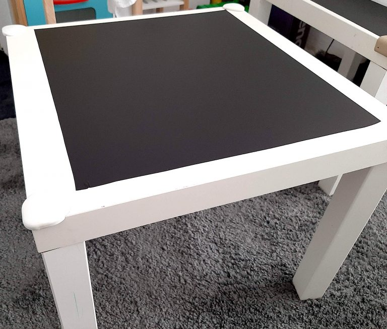DIY CHALKBOARD WALL & TABLE – PLAYROOM IDEAS ON A BUDGET