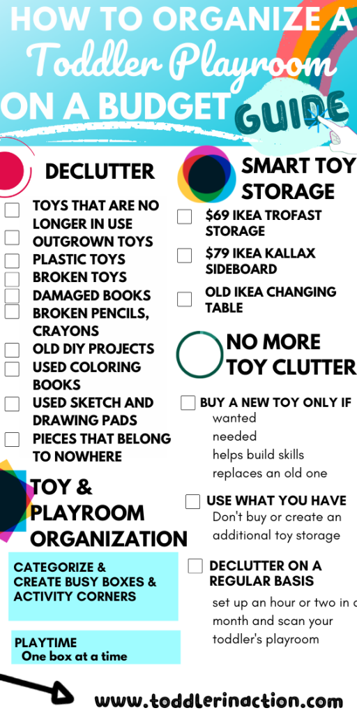 How to organize toy storage and playroom on a budget
