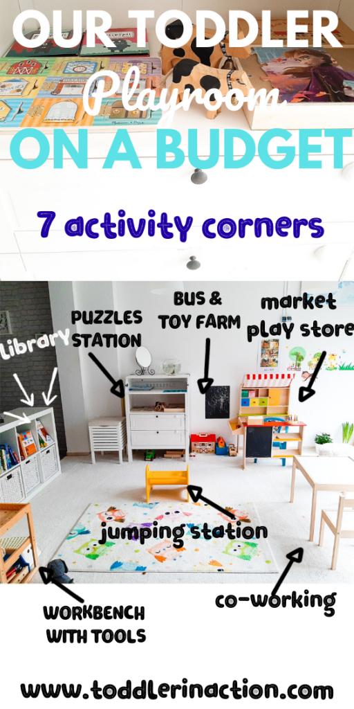 7 activity corners playroom