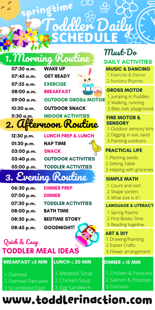 Springtime Daily Toddler Schedule - Toddler Routine