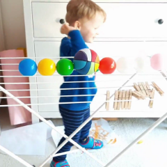 BALLS ON A DRYING RACK – EASY AND FUN