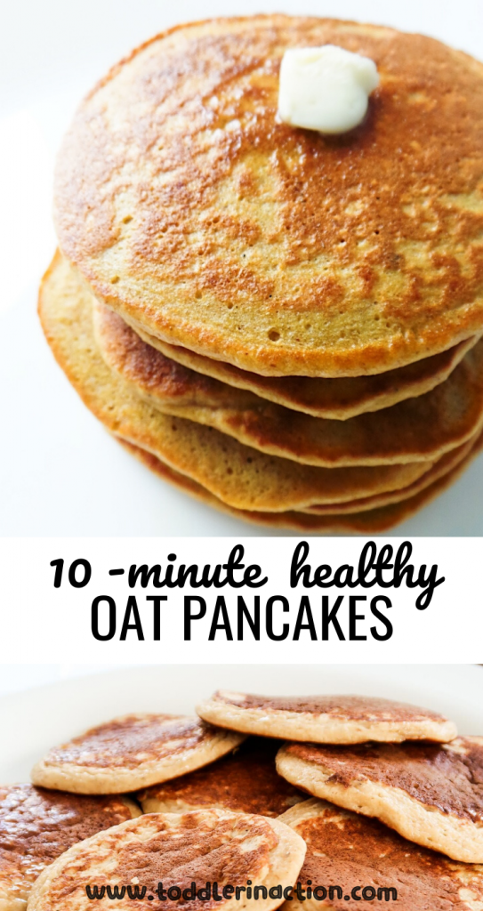 5 easy healthy oatmeal pancake recipes to make for a healthy breakfast for your family! These healthy pancake ideas are perfect to put on your weekly toddler meal plan as well!