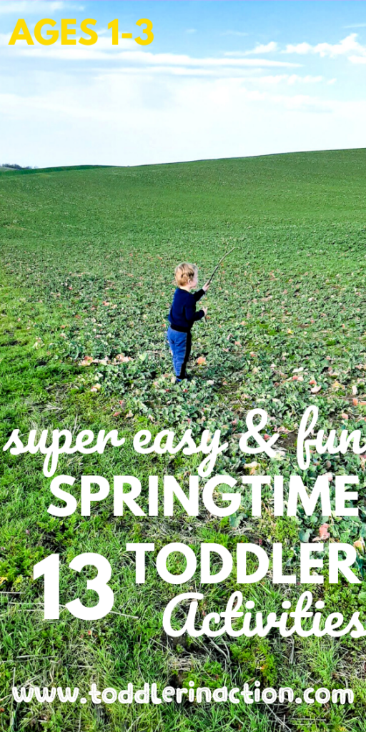super easy springtime toddler activities