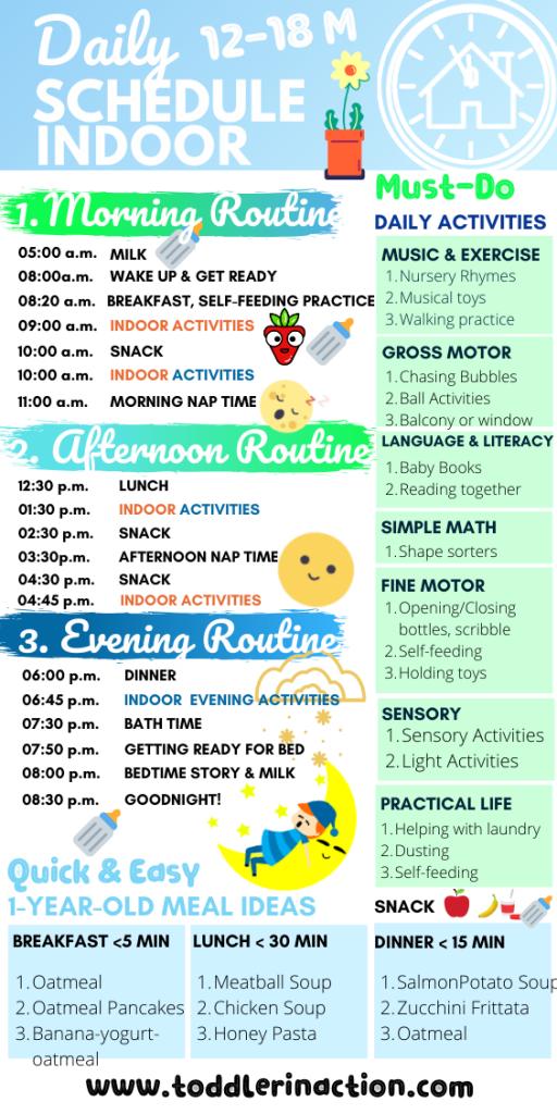 Simple Indoor Daily Schedule 12-18 M