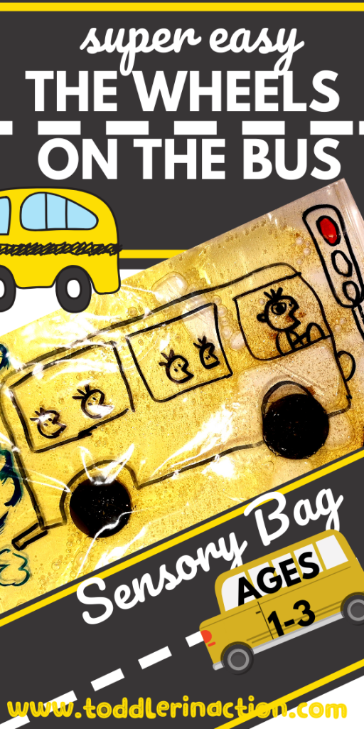 1 minute Super easy DIY The Wheels on the Bus Sensory Bag