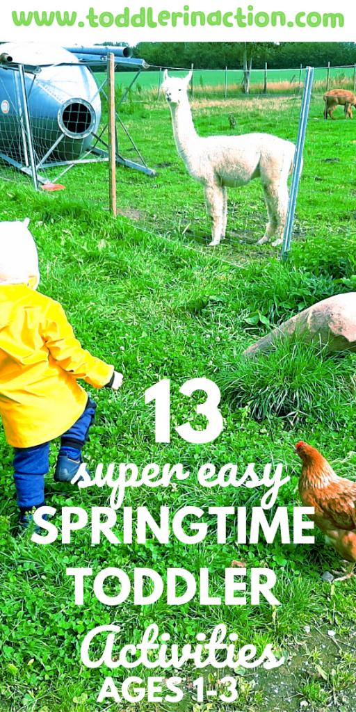 Springtime toddler activities