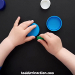EASY EDUCATIONAL FINE MOTOR ACTIVITY WITH BOTTLE CAPS