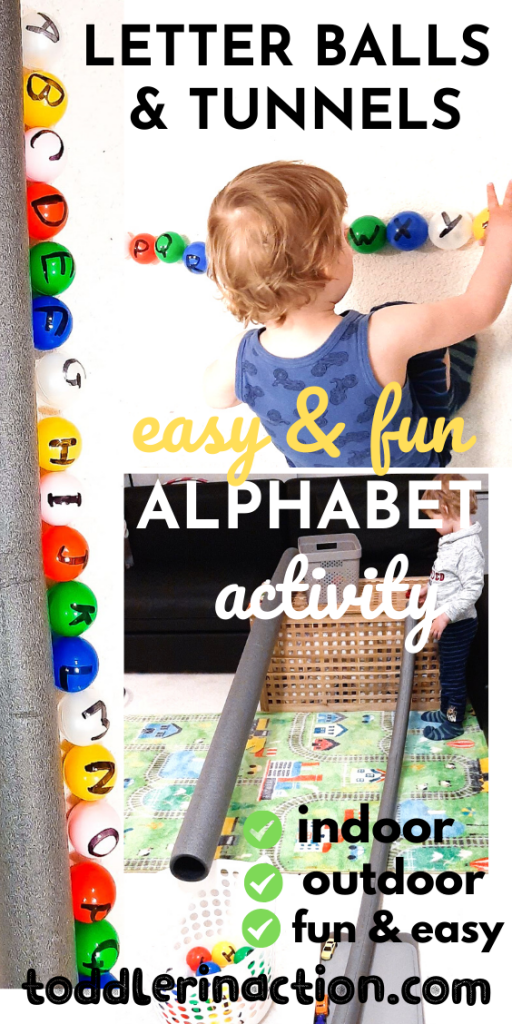 Letter Balls & Tunnels - Fun and Easy Alphabet Activity