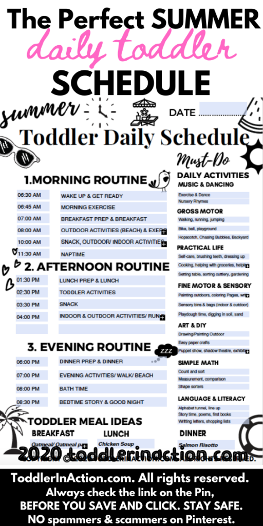 The Perfect Summer Daily Toddler Schedule
