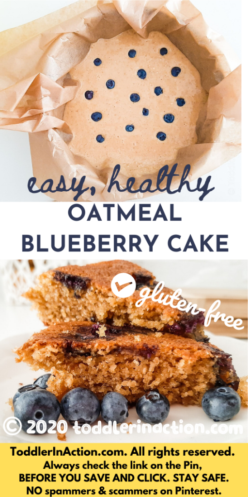 Healthy oatmeal blueberry cake