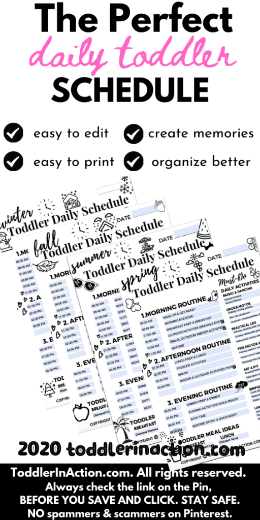 Daily Schedule Baby Book