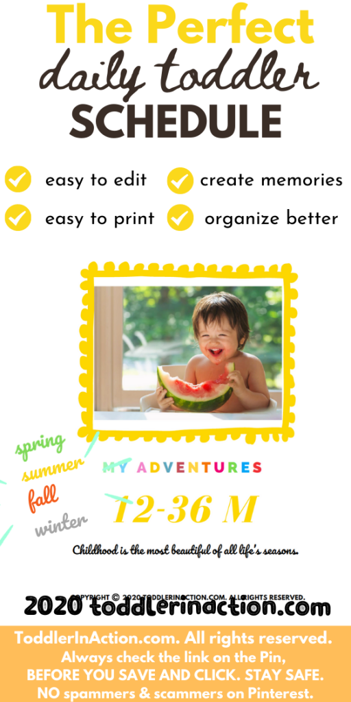 THE PERFECT DAILY TODDLER SCHEDULE