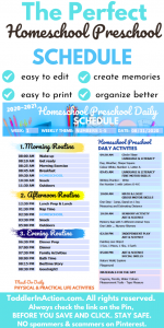 Toddler Schedules Homeschool Planner