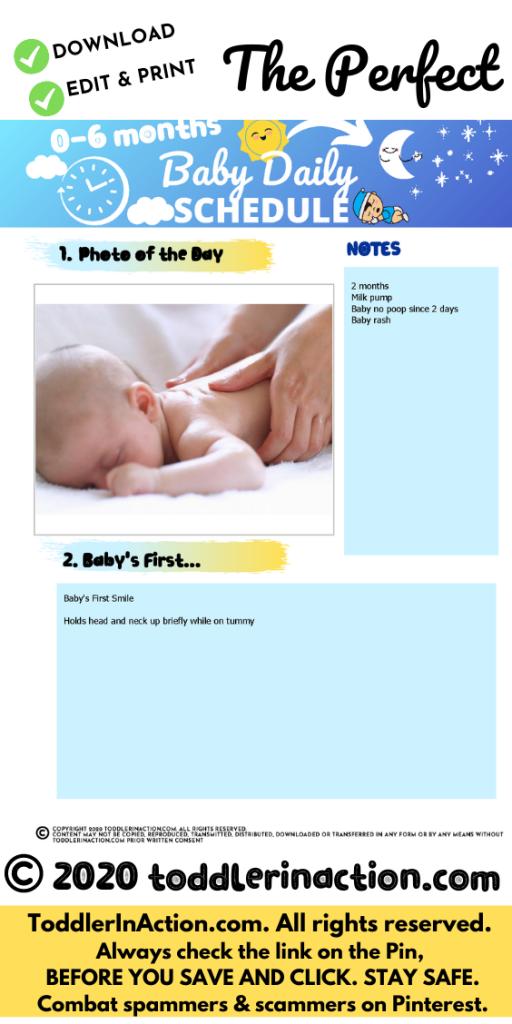 Baby Schedule 0-6 months