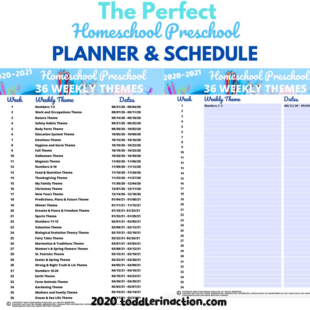 Homeschool Preschool Planner