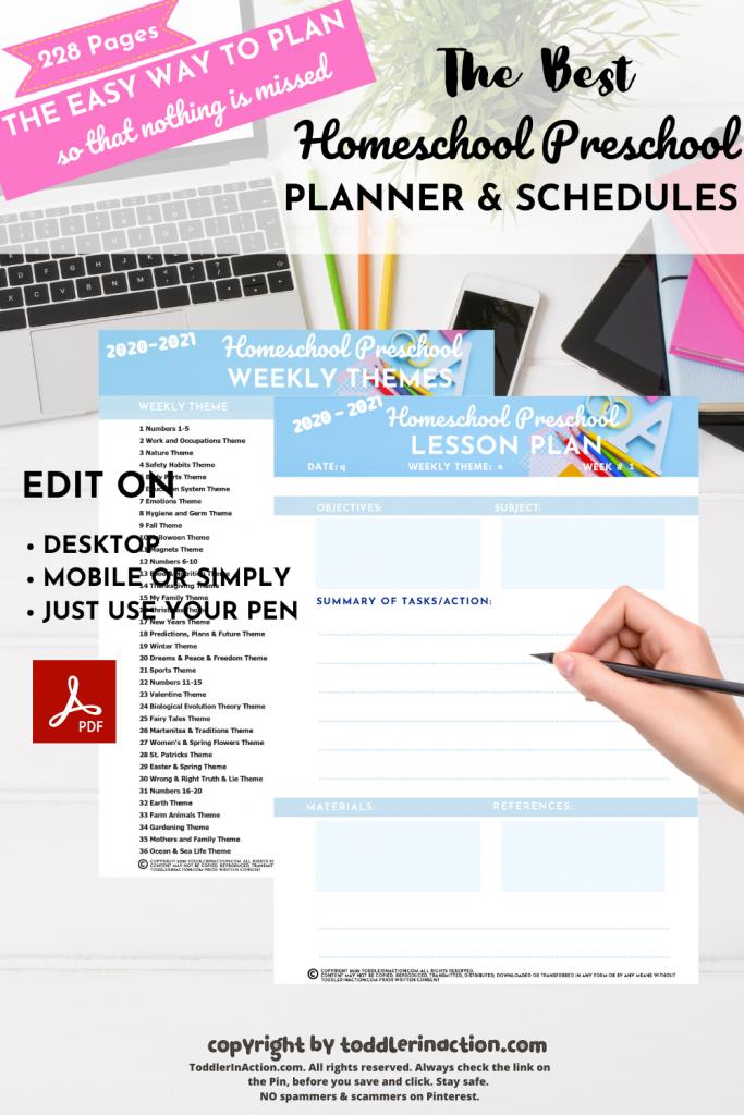 Homeschool Planner Schedules Homeschool Planner5