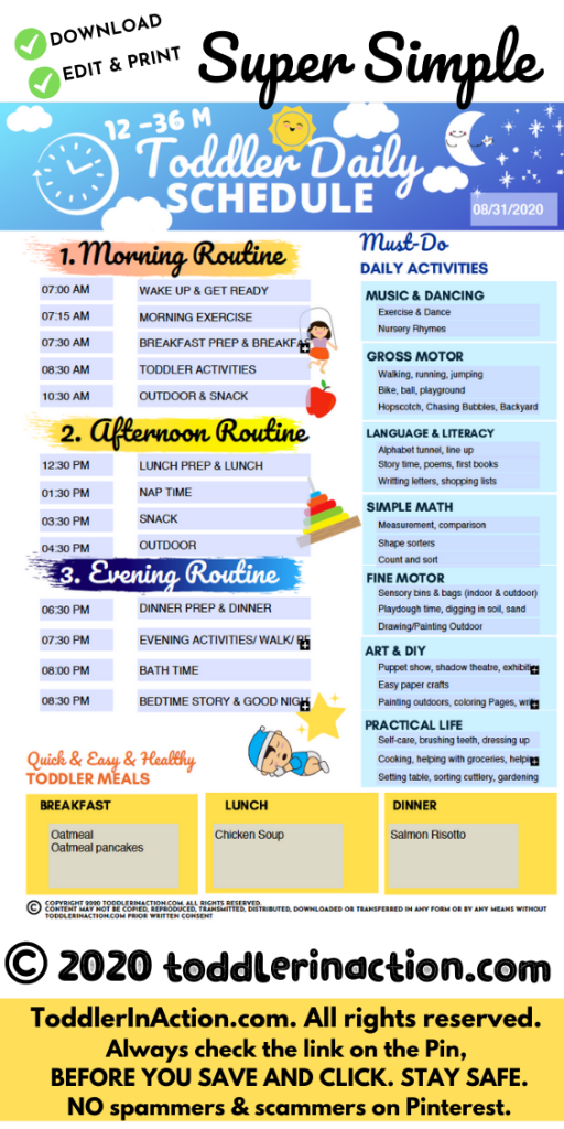 Toddler Daily schedule