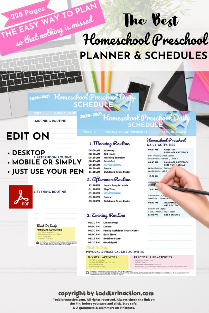 Homeschool Planner Schedules Homeschool Planner1