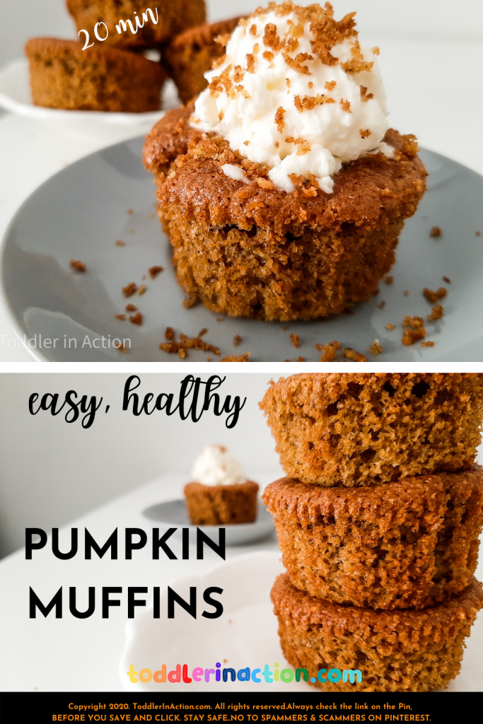 EASY, HEALTHY PUMPKIN MUFFINS, TODDLER BREAKFAST, TODDLER SNACK