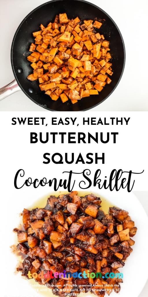 easy, healthy Butternut squash skillet