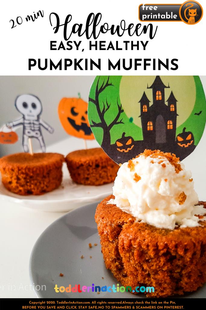 Easy Halloween Pumpkin Muffins