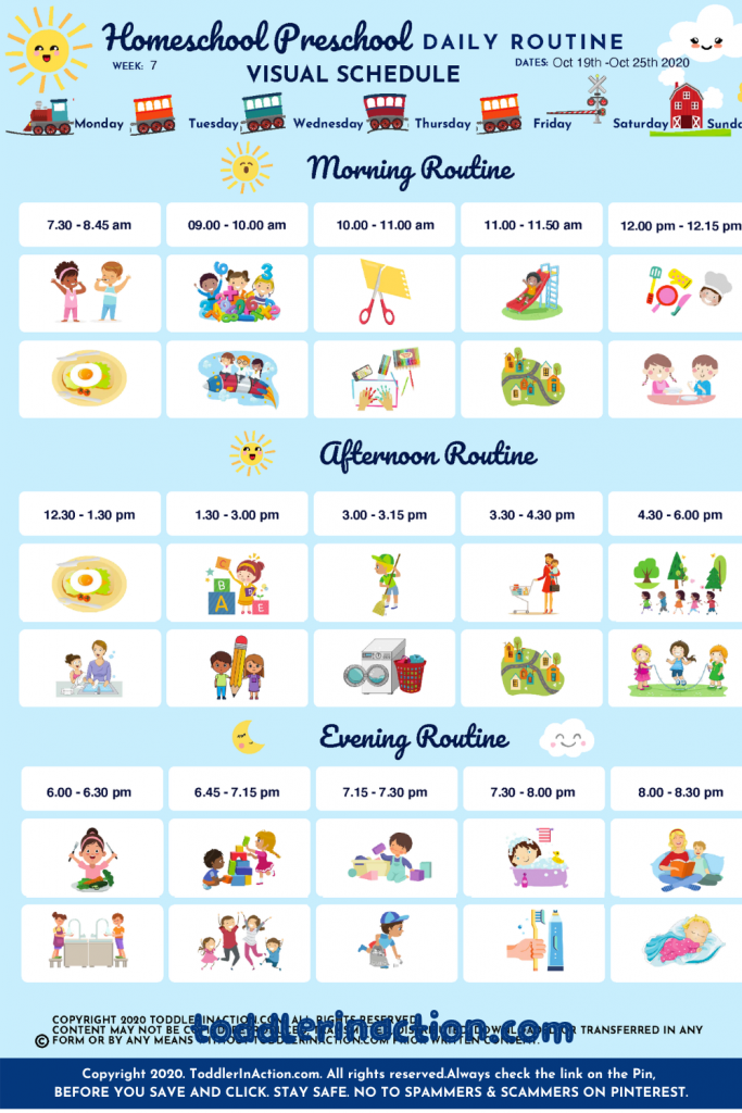 Free Printables for easy daily toddler routine
