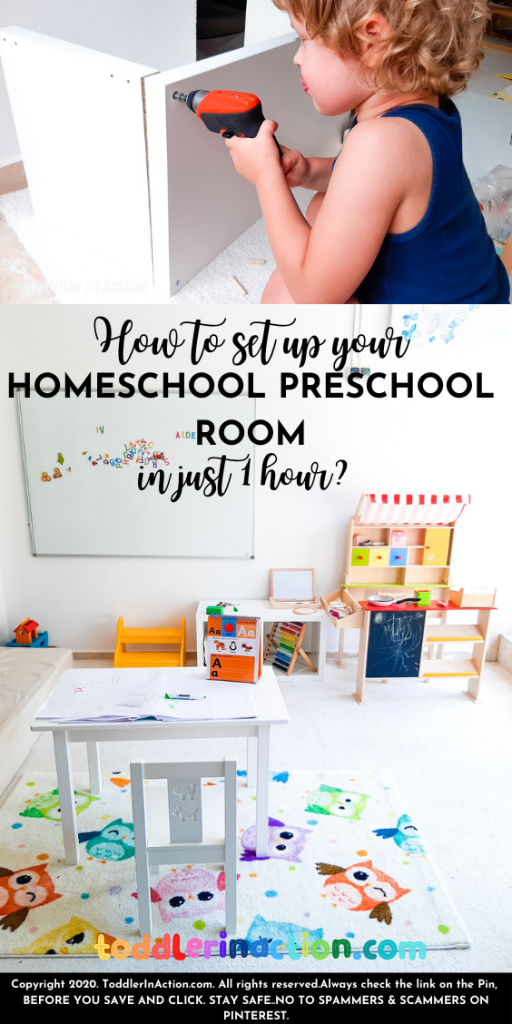 HOMESCHOOL PRESCHOOL ROOM SET UP IN 1 HOUR