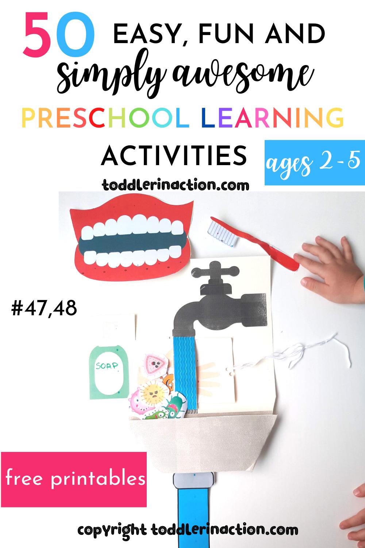 Homeschool Preschool Learning Activities Toddlers Preschoolers