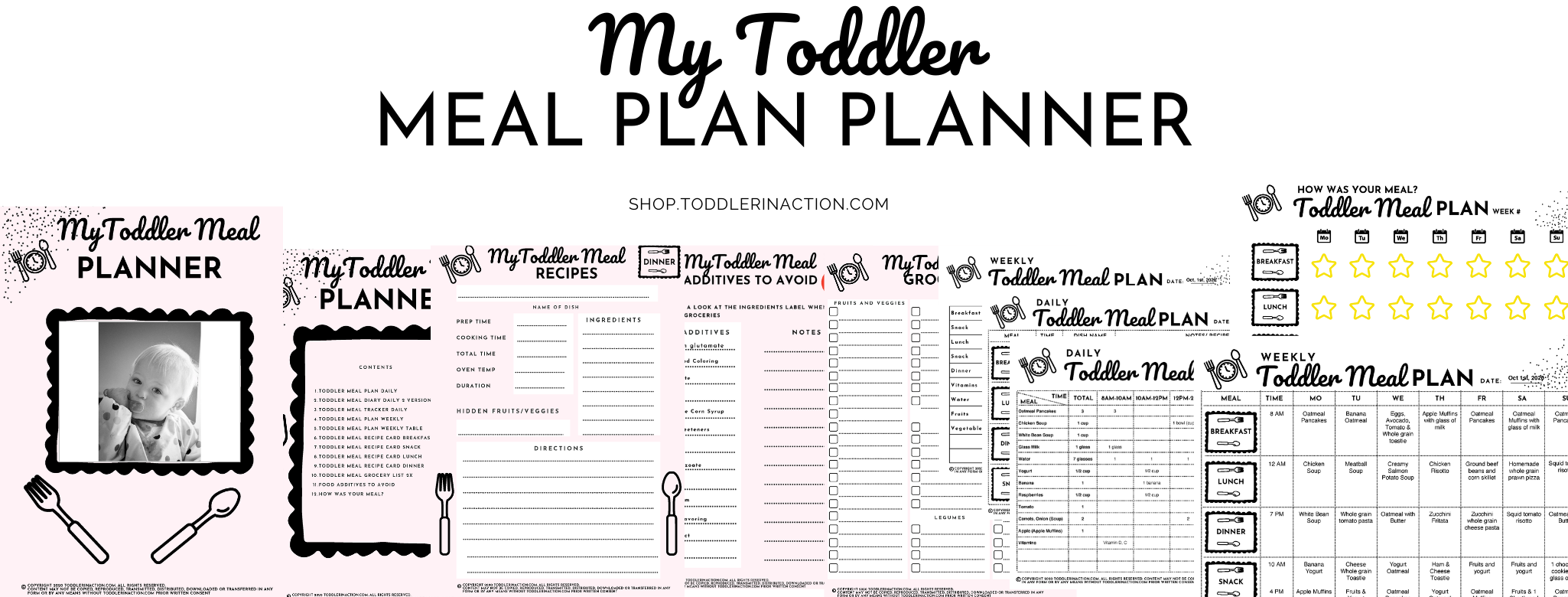 Toddler Meal Plan Printable