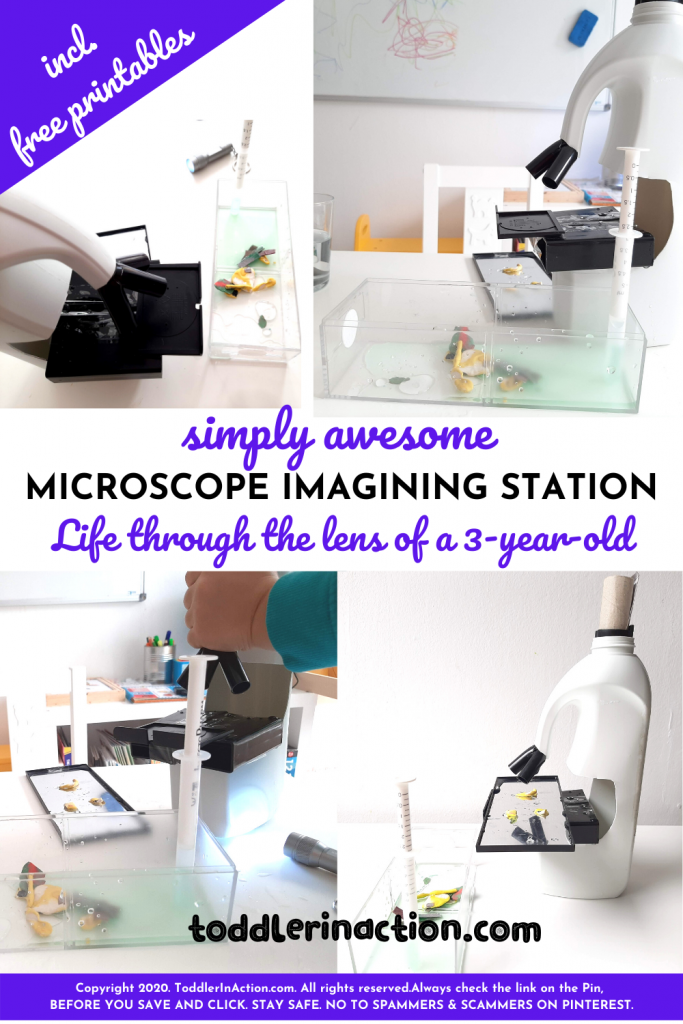 Microscope imagining station for a 3 year old