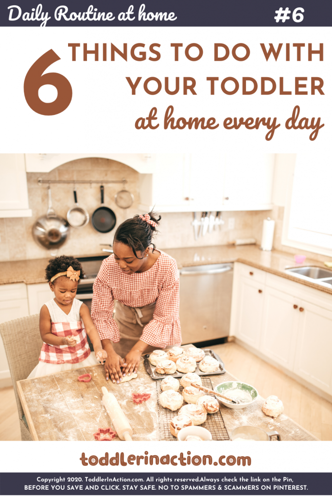 Toddler Daily Routine Cooking together